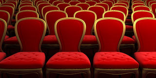 Concert hall. With red seat Stock Photography