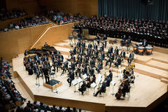 Concert hall Auditori Banda municipal de Barcelona with audience Royalty Free Stock Photo