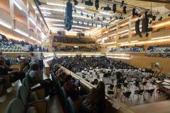Concert hall Auditori Banda municipal de Barcelona with audience Stock Photography
