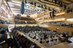 Concert hall Auditori Banda municipal de Barcelona with audience Stock Photo