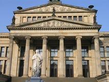 Concert Hall Berlin. The Konzerthaus Berlin (once called the Schauspielhaus Berlin) with memorial to Schiller is a concert hall situated on the Gendarmenmarkt Stock Photos