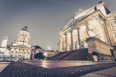 Concert hall berlin at Gendarmenmarkt at night Stock Image