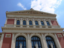 Concert hall building. Front side view of the Vienna concert hall Musikvereinssaal royalty free stock photography