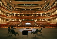 Concert Hall with chamber chair set. Concert hall view from stage Stock Photo