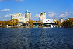 Concert hall of the Ekaterinburg, Russia. Concert hall at the shore of the pond in Ekaterinburg, Russia Stock Photography