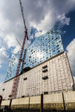 Concert hall Elbphilharmonie under construction Royalty Free Stock Image