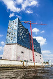 Concert hall Elbphilharmonie under construction Royalty Free Stock Images