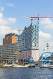 Concert hall Elbphilharmonie under Stock Image
