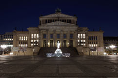 Concert hall at gendarmenmarkt at night Royalty Free Stock Photo