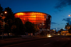 Concert Hall Great Amber in Liepaja, Latvia. LIEPAJA, LATVIA - Jun 25, 2017: Concert hall Great Amber LIELAIS DZINTARS is a regional centre of culture, home to Royalty Free Stock Photos