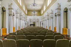 Concert hall. Music Hall in old Sanatorium Marconi in Busko-Zdrój in Poland. Europe Royalty Free Stock Image
