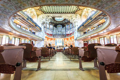 Concert Hall in Music Palace by Gaudi, Barcelona, Spain Stock Image