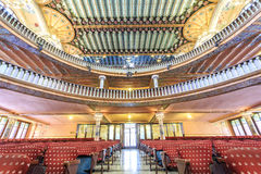 Concert Hall in Music Palace by Gaudi, Barcelona, Spain Stock Photography