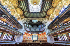 Concert Hall in Music Palace by Gaudi, Barcelona, Spain Royalty Free Stock Image