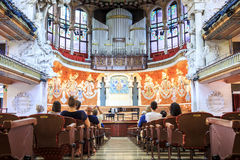 Concert Hall in Music Palace by Gaudi, Barcelona, Spain Royalty Free Stock Photos
