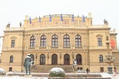Concert hall Rudolfinum at winter Stock Photos