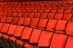 Concert Hall seating. Red velvet concert hall seating background Royalty Free Stock Image
