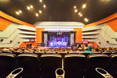 Concert hall, view on stage Royalty Free Stock Image