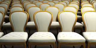 Concert hall with white seat Stock Photography