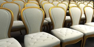 Concert hall with white seat Royalty Free Stock Image
