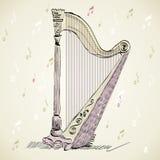 Concert harp Stock Image