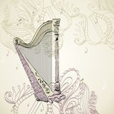 Concert harp Royalty Free Stock Photography