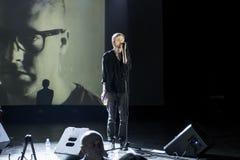 Concert of Jay Jay Johanson at 'GlavClub' in St. Petersburg, Ru Royalty Free Stock Photo