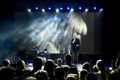 Concert of Jay Jay Johanson at 'GlavClub' in St. Petersburg, Ru Stock Photo