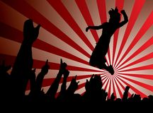 Concert jump red Stock Photography