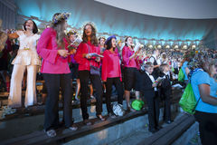 Concert of Latvian Youth Song and Dance Celebration Royalty Free Stock Photos