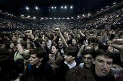 Concert le décembre 2010 de Francesco Guccini Milan Photographie stock