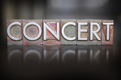 Concert Letterpress Royalty Free Stock Photos