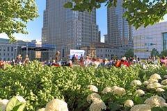 Concert libre annuel de Cleveland Orchestra d'été à Cleveland du centre, Ohio, Etats-Unis images stock