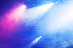Concert Light Show. Beautiful blue background Concert Light Show royalty free stock image