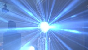 Concert light show. Stage lighting background stock footage