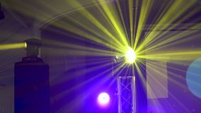 Concert light show. Stage lighting background stock video footage