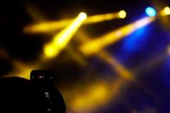 Concert light show Stock Photo