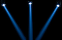 Concert lighting against a dark background Royalty Free Stock Photography