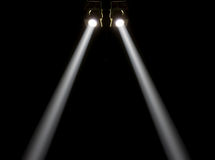 Concert lighting against a dark background Royalty Free Stock Images