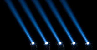 Concert lighting against a dark background Royalty Free Stock Photos