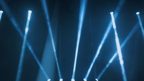 Concert lighting against a dark background ilustration. Spotlight on stage. Free stage with lights, lighting devices.  Royalty Free Stock Photos