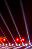 Concert lighting against. A dark background from the stage Royalty Free Stock Image