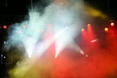 Concert lights. On the fog Stock Image