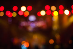 Concert lights bokeh. To date, the Bad and the Beautiful royalty free stock image