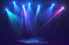 Concert lights (super high resolution). 3d render concert lights for you project on very high resolution Stock Image