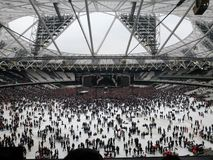 Concert. A live concert in London& x27;s olympic stadium Royalty Free Stock Photography