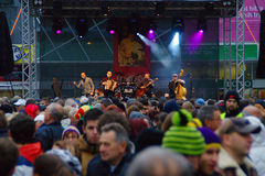 Concert Of Local Band On St. Martins Feast 2013 Stock Photos