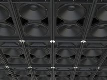 Concert loudspeakers. Full background - image shot in ultra high resolution stock illustration