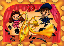 Concert of love Royalty Free Stock Images