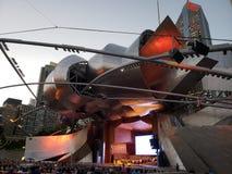 Concert in Millennium park. Concert of classical music in Millennium park Pritzker pavilion Chicago Stock Photo